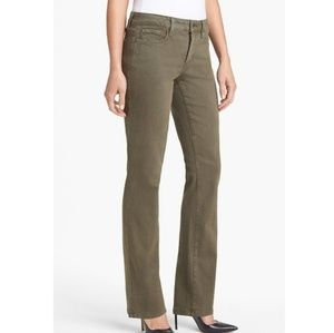 NYDJ Barbara Bootcut Jeans Spanish Moss Green